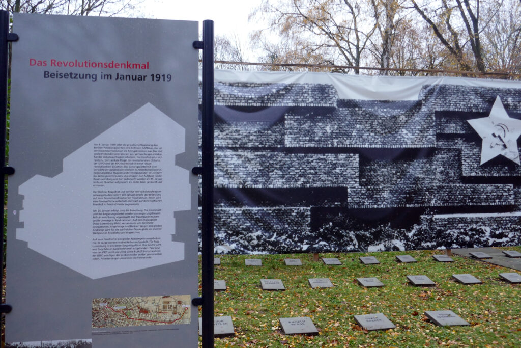 Friedhof Friedrichsfelde - Modell des Revolutionsdenkmals. Foto: Ulrich Horb