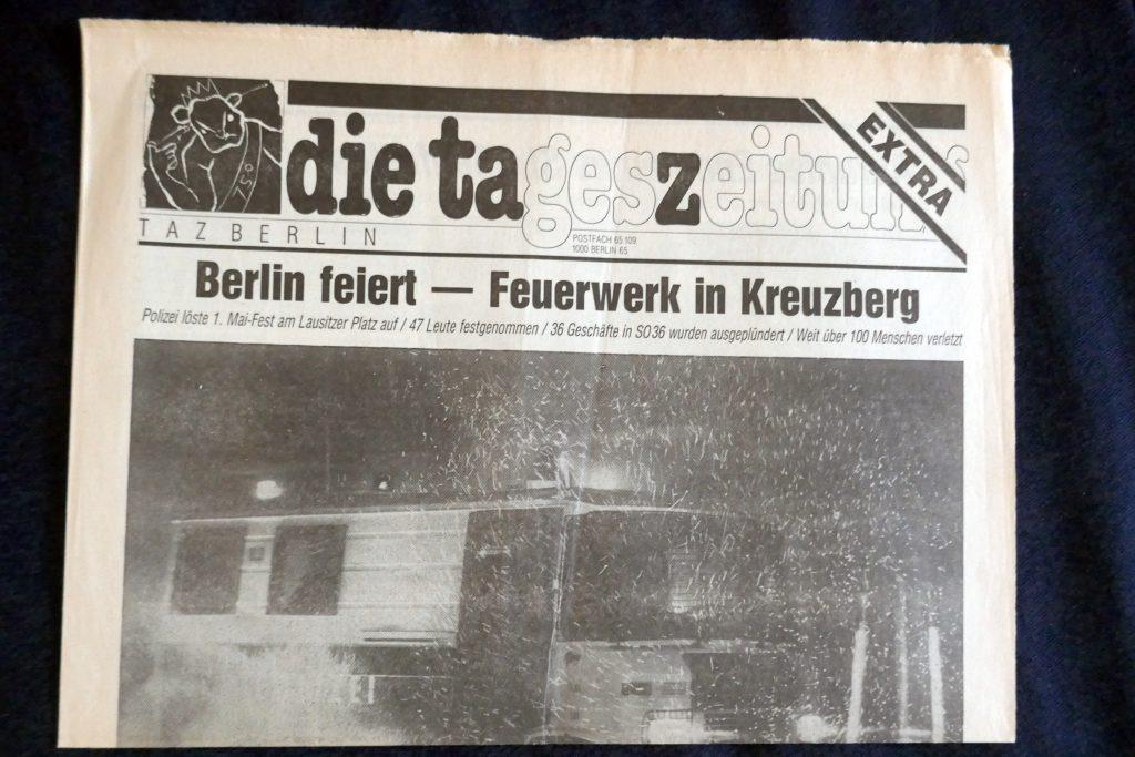 "Anfangsjahre der ""Tageszeitung"". Foto: Ulrich Horb"