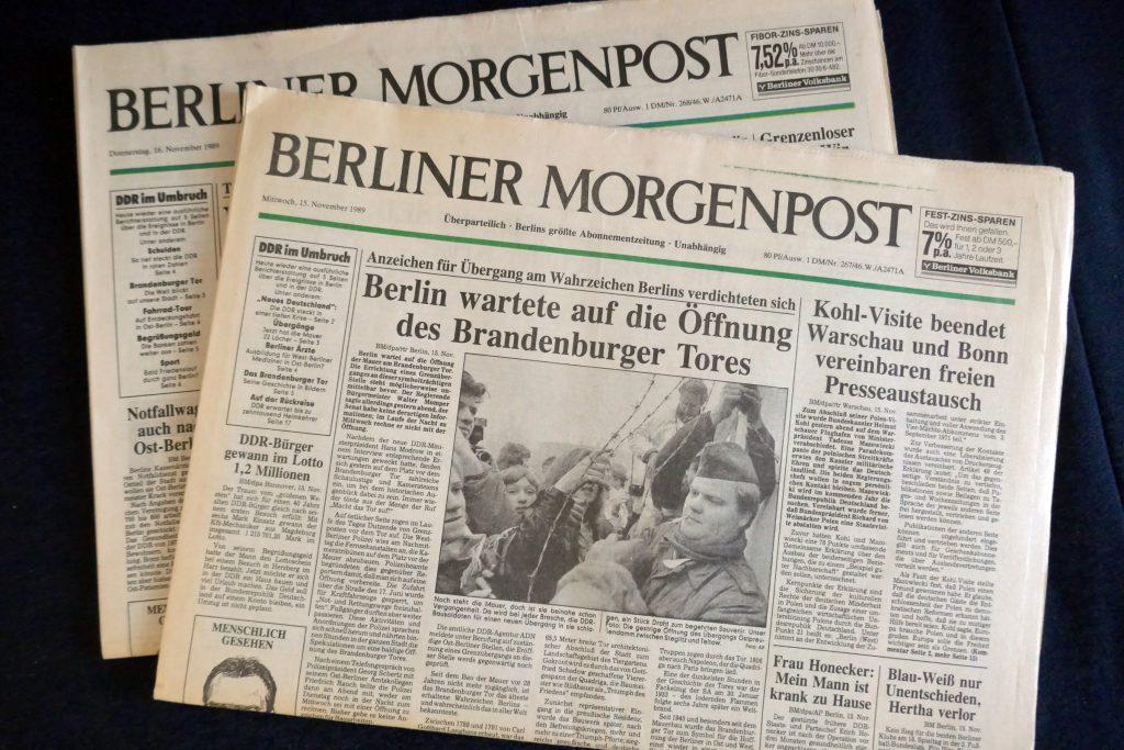 """Zeitungstitel """"Berliner Morgenpost"""". Foto: Ulrich Horb"""