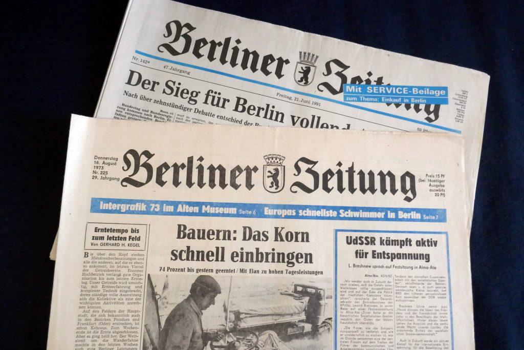 Die Berliner Zeitung wurde 1945 als Zeitung des Berliner Magistrats gegründet. Nach mehrmaligem Besitzerwechsel gehört sie jetzt einem Unternehmerehepaar. Foto: Ulrich Horb