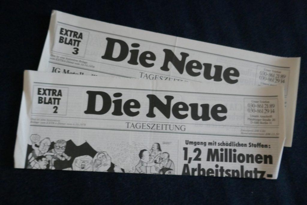 """""""Die Neue"""": Nullnummern. Foto: Ulrich Horb"""