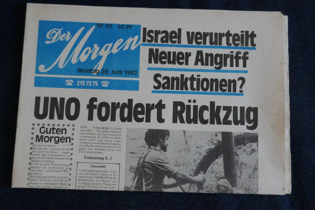 """Zeitungsprojekt """"Der Morgen"""" 1982. Foto: Ulrich Horb"""