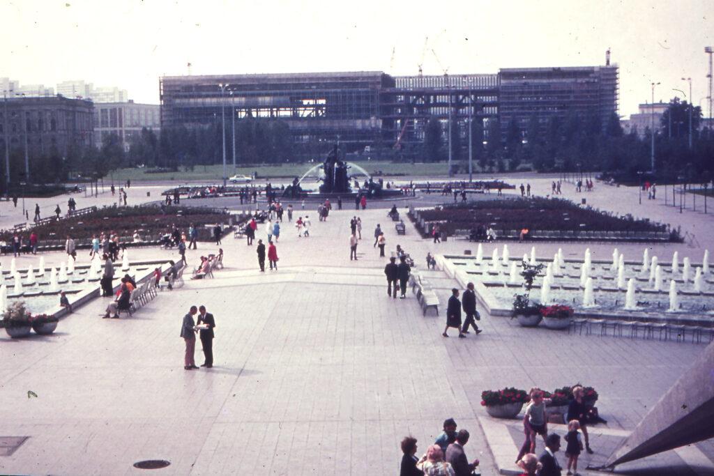1974: Palast der Republik im Bau. Foto: Archiv Ulrich Horb
