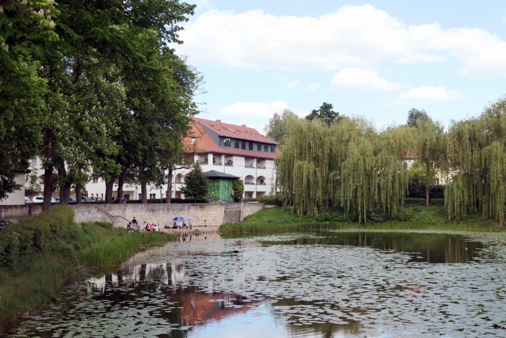 Lindenhof mit eiszeitlichem Teich. Foto: Ulrich Horb