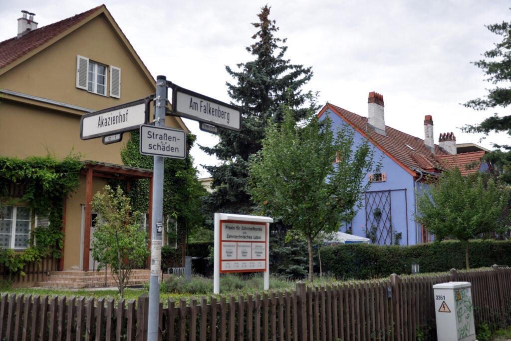 Am Falkenberg Ecke Akazienhof. Foto: Ulrich Horb