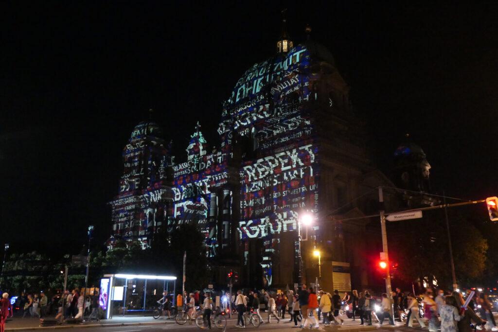 Lichterfest 2021: Berliner Dom. Foto: Ulrich Horb