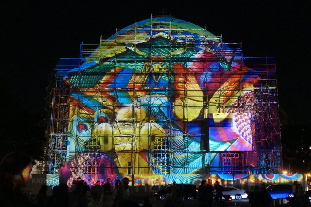 Lichterfest 2021: St. Hedwigs-Kathedrale. Foto: Ulrich Horb