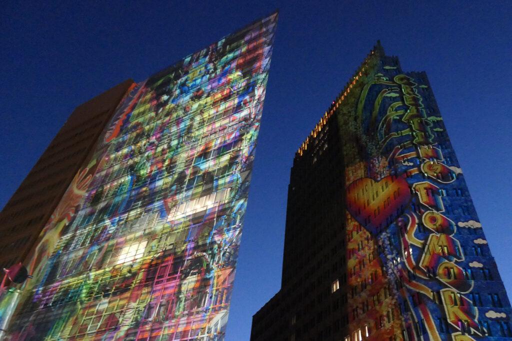 Festival of Lights 2021: Potsdamer Platz. Foto: Ulrich Horb