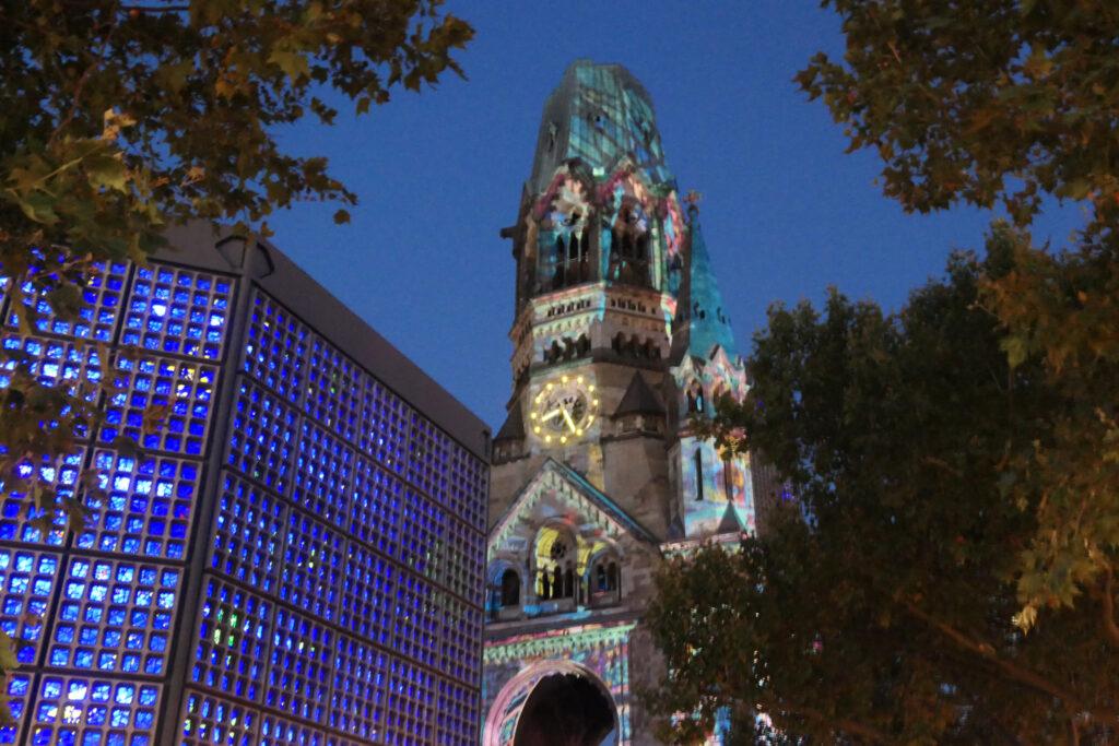 Festival of Lights 2021: Gedächtniskirche. Foto: Ulrich Horb